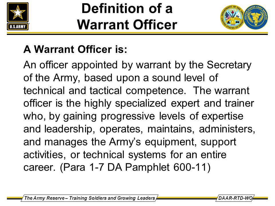 ARMY STRONG Warrant Officer Program - ppt video online download