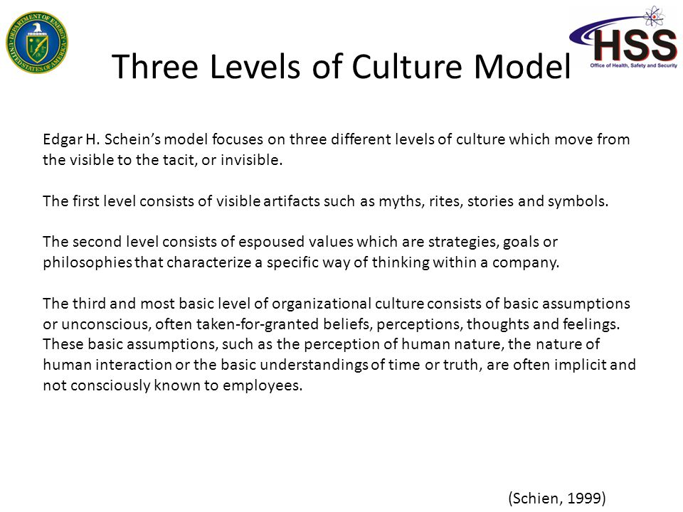 three levels of organizational culture in management