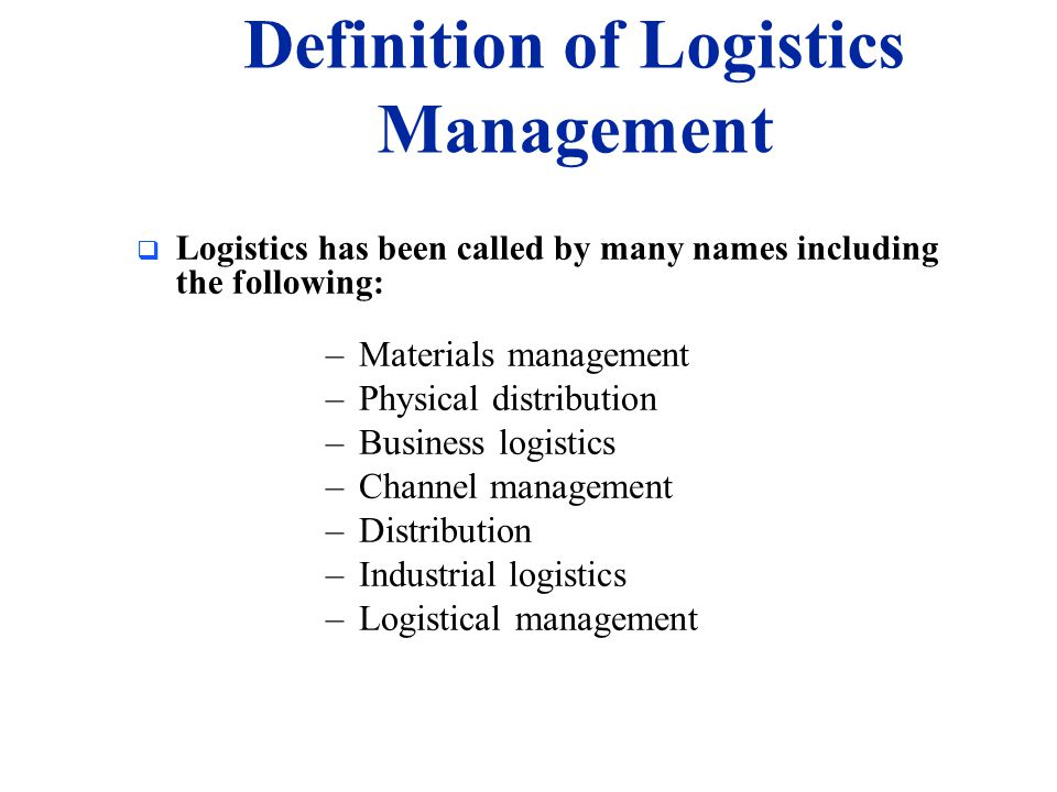 Introduction to Logistics and Supply Chain - ppt video