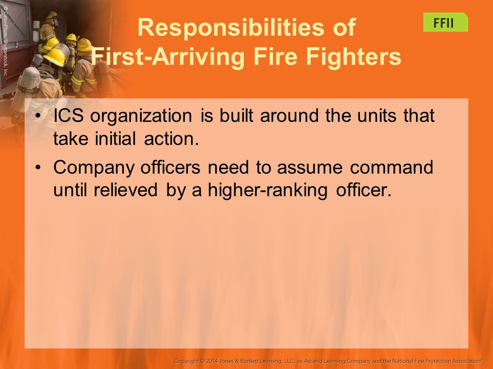 Responsibilities of First-Arriving Fire Fighters