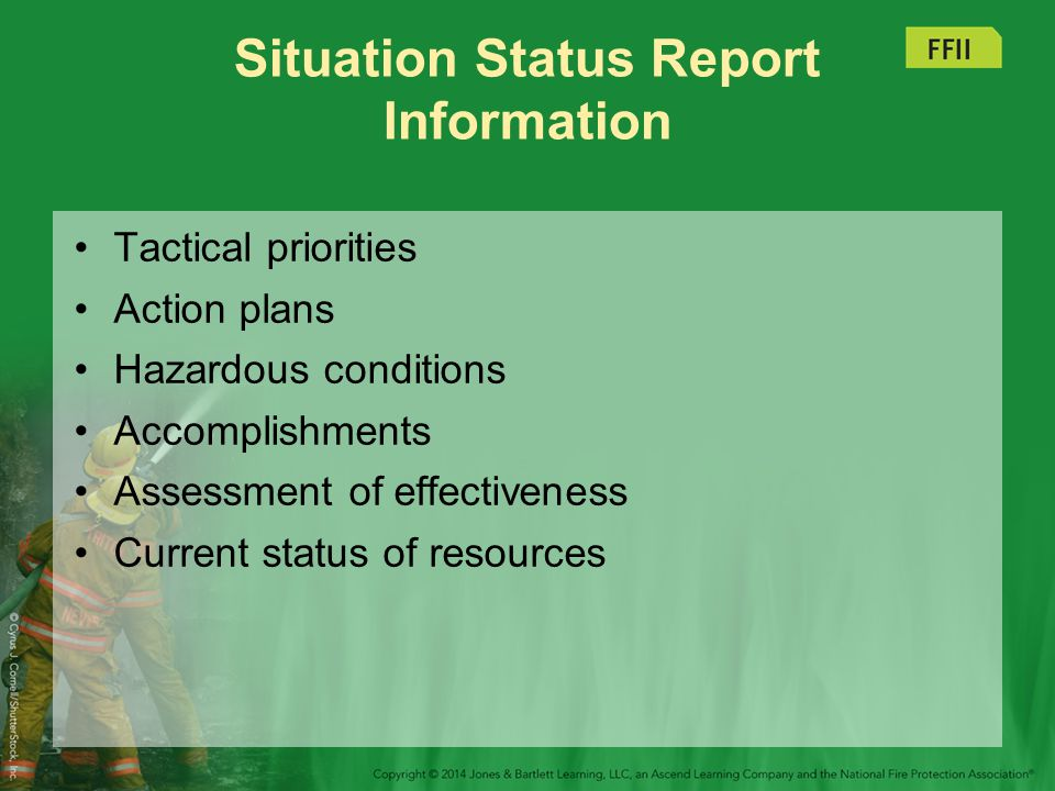Situation Status Report Information