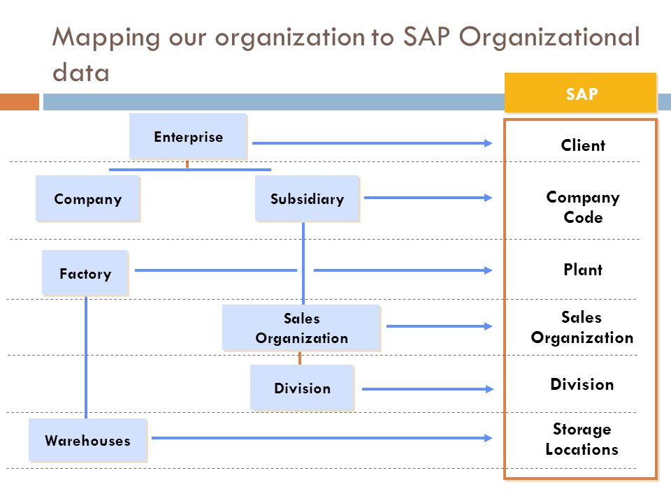 Mapping our organization to SAP Organizational data