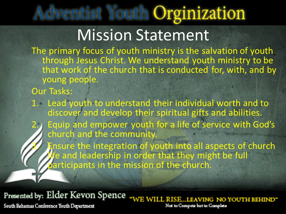 Adventist Youth Society - ppt video online download