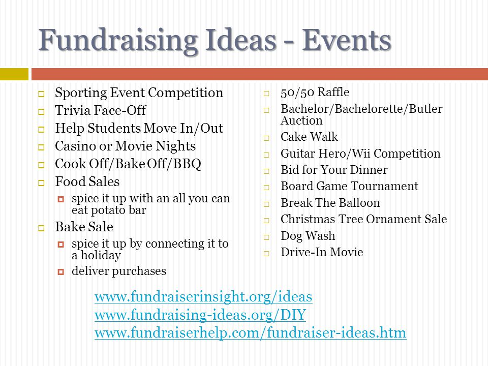 Fundraising Ideas - Events