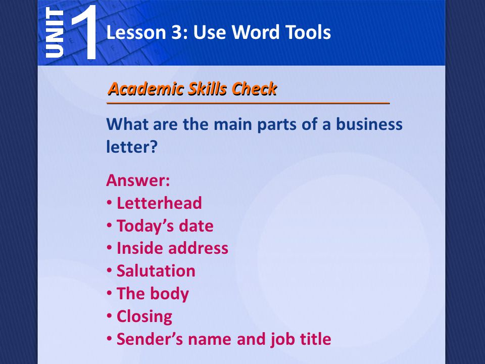 How Can Microsoft Word 2007 Help You Write A Business Letter Ppt