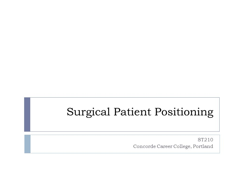 Surgical Patient Positioning