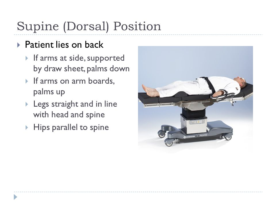 Modified Dorsal Recumbent Position Image