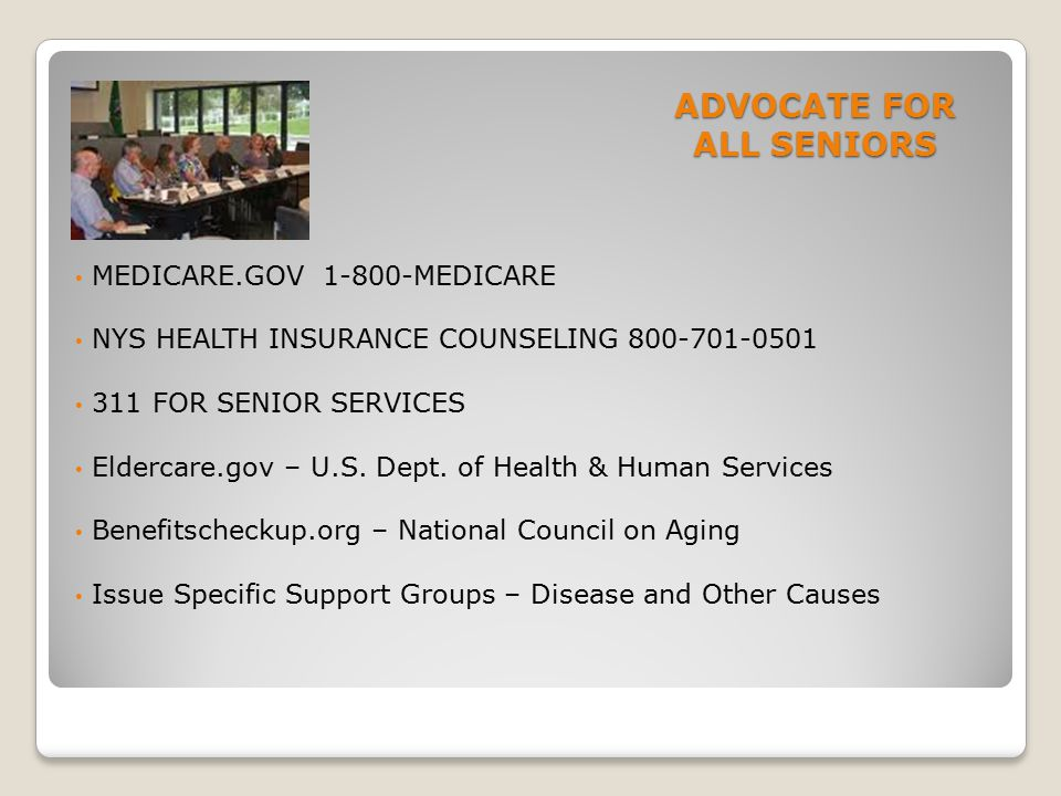 ADVOCATE FOR ALL SENIORS