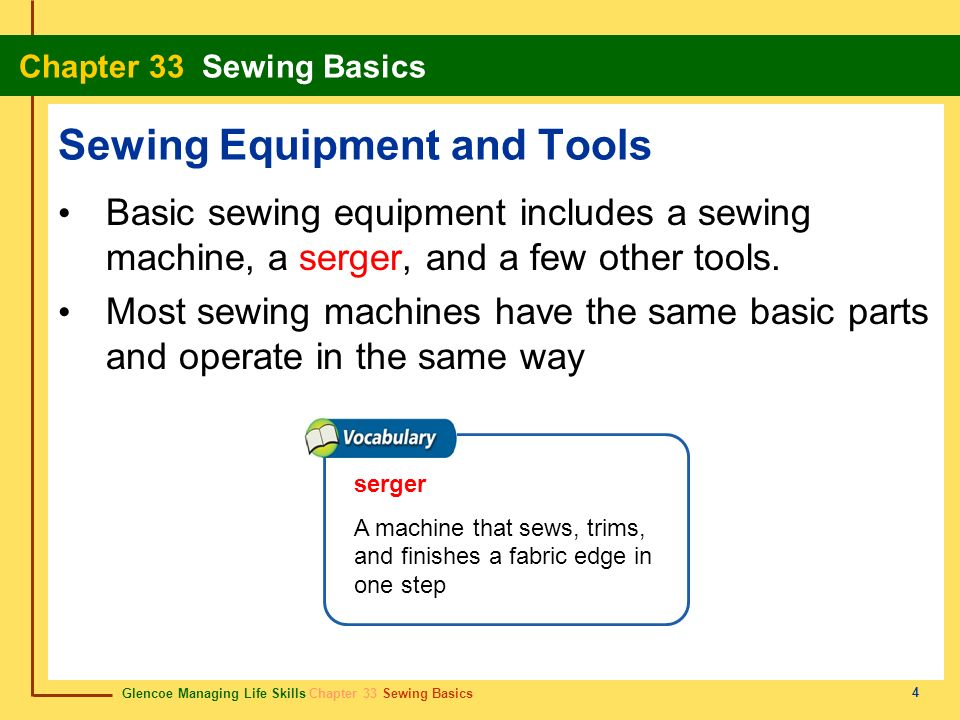 Sewing Equipment and Tools