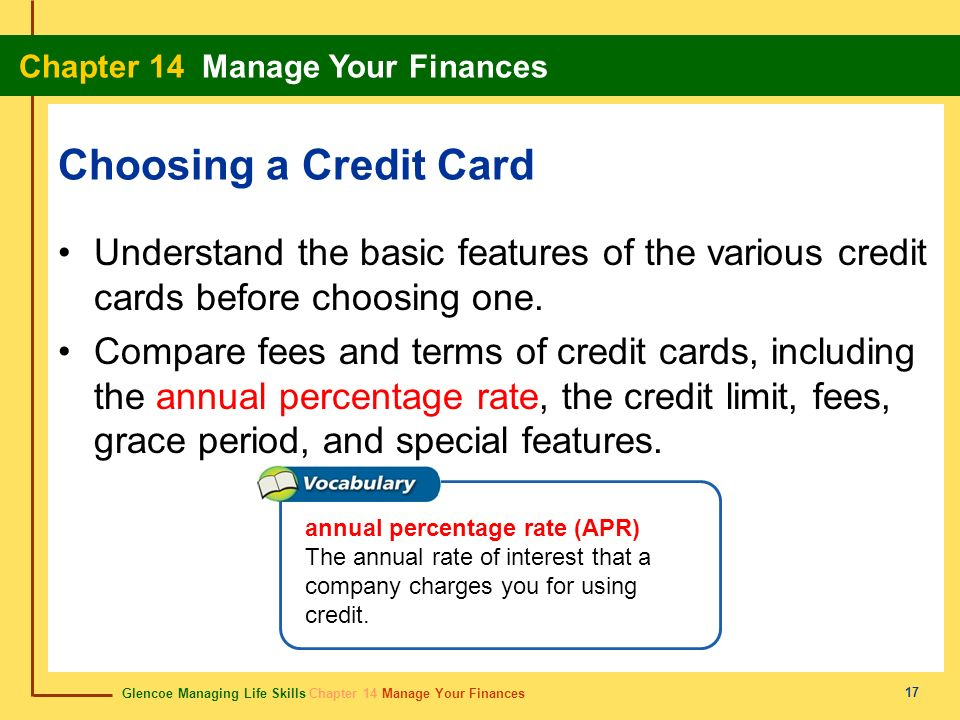 Choosing a Credit Card Understand the basic features of the various credit cards before choosing one.