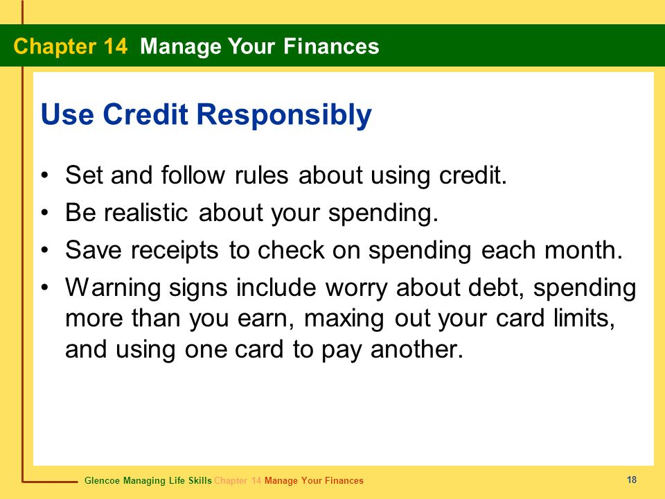 Use Credit Responsibly