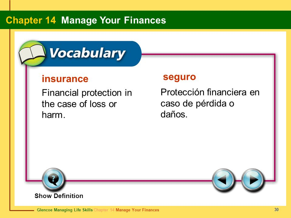 seguro insurance Financial protection in the case of loss or harm.