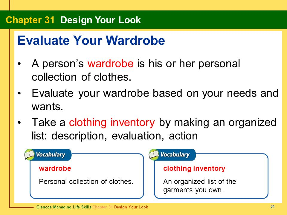 Evaluate Your Wardrobe