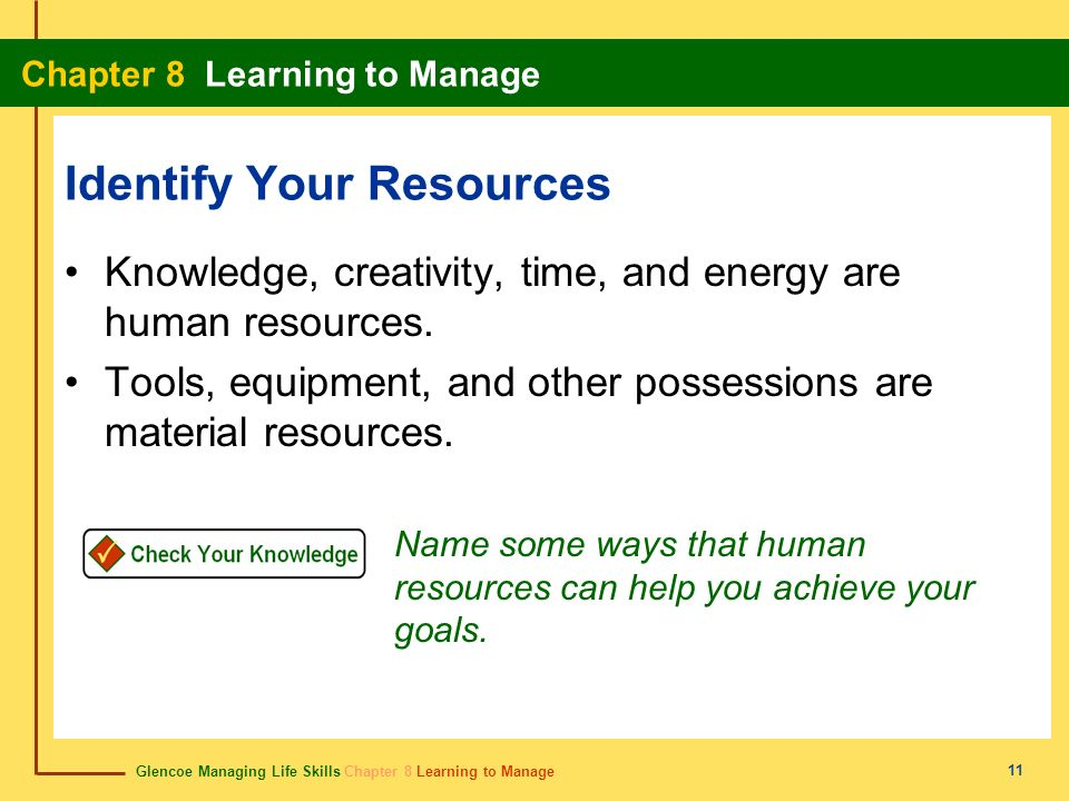 Identify Your Resources
