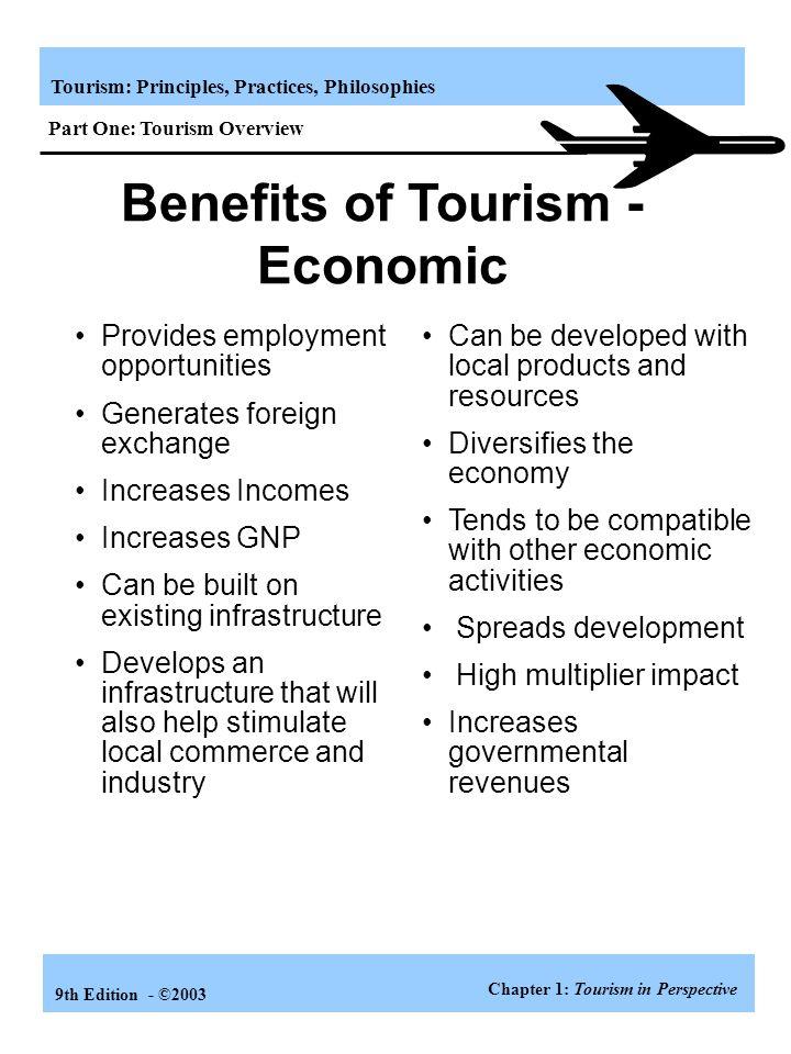 economic advantages of tourism