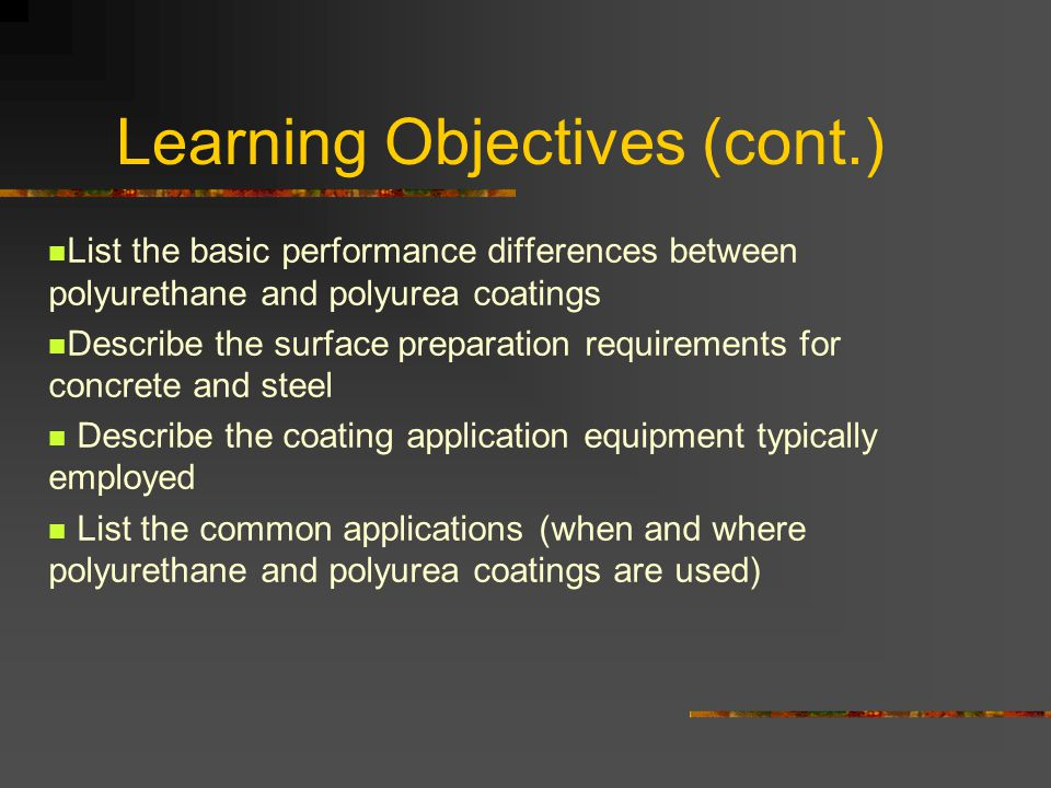 Advances in Polyurethane and Polyurea Technology - ppt video online