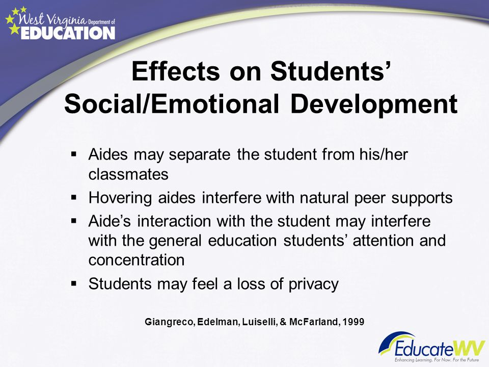 Effects on Students' Social/Emotional Development