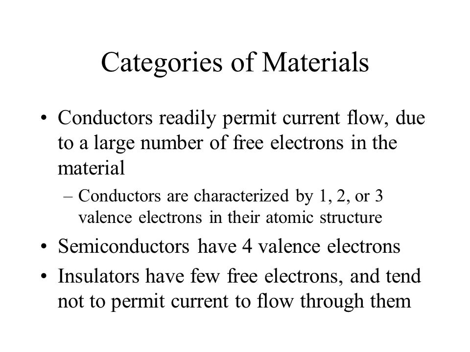 Categories of Materials