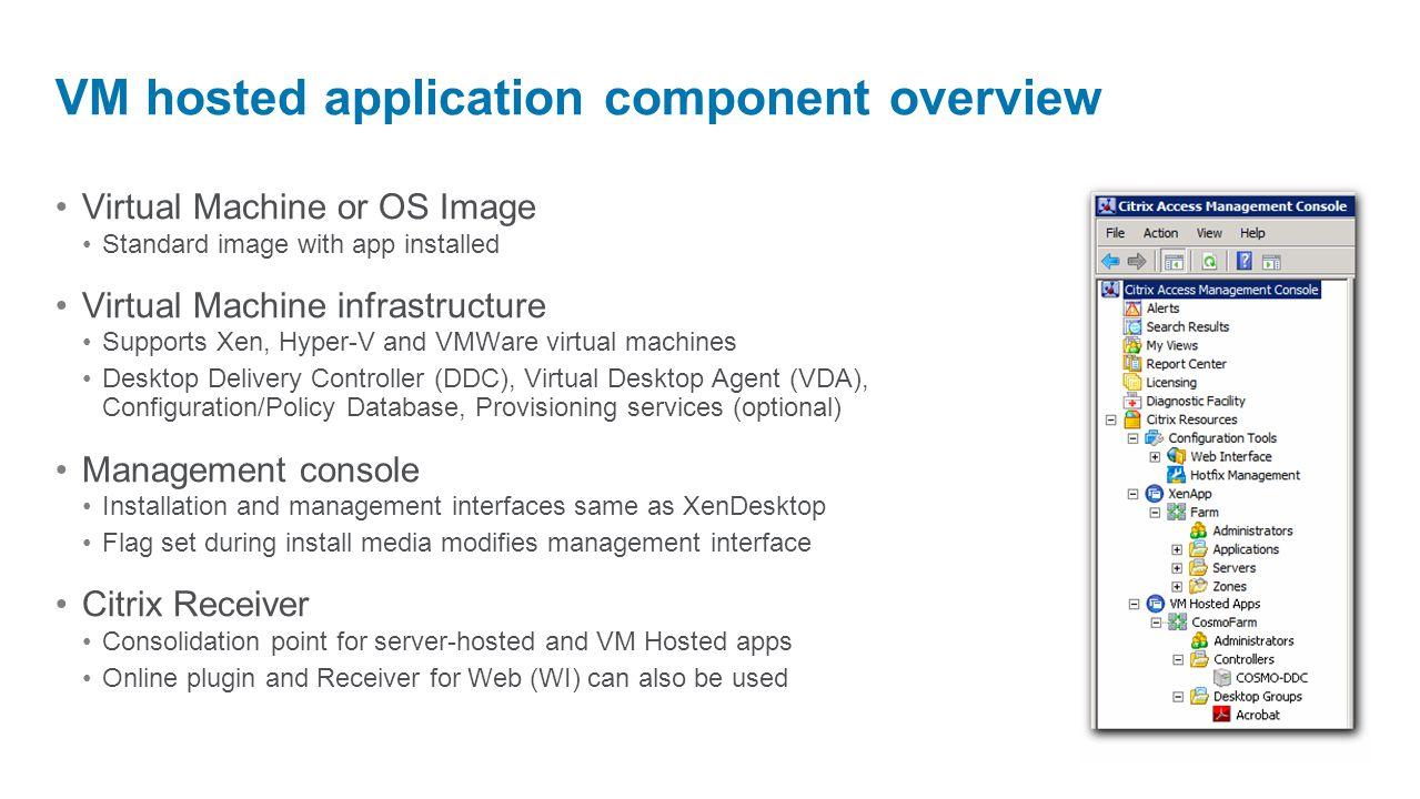 TechTalk: Deep dive on VM Hosted Apps, New in XenApp! - ppt video