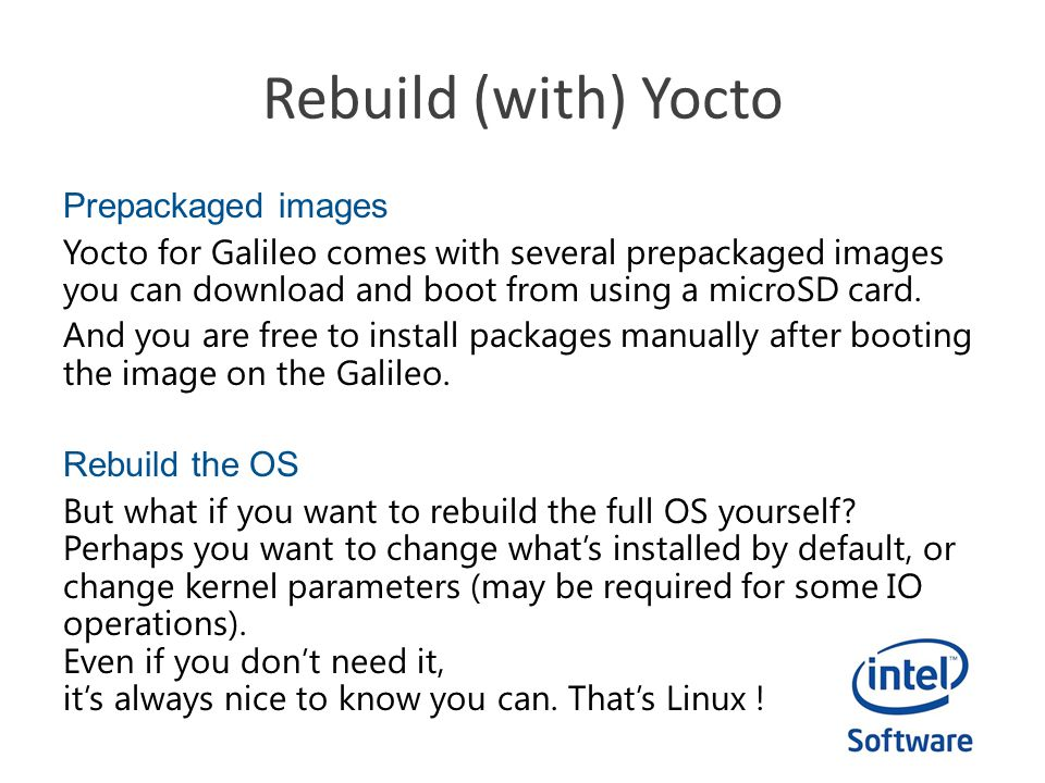 Intel Do-It-Yourself Challenge Rebuild (with) Yocto - ppt video