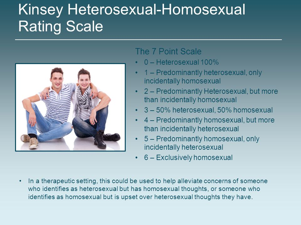 Heterosexual homosexual rating scale