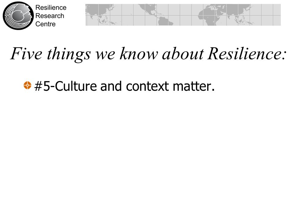Five things we know about Resilience: