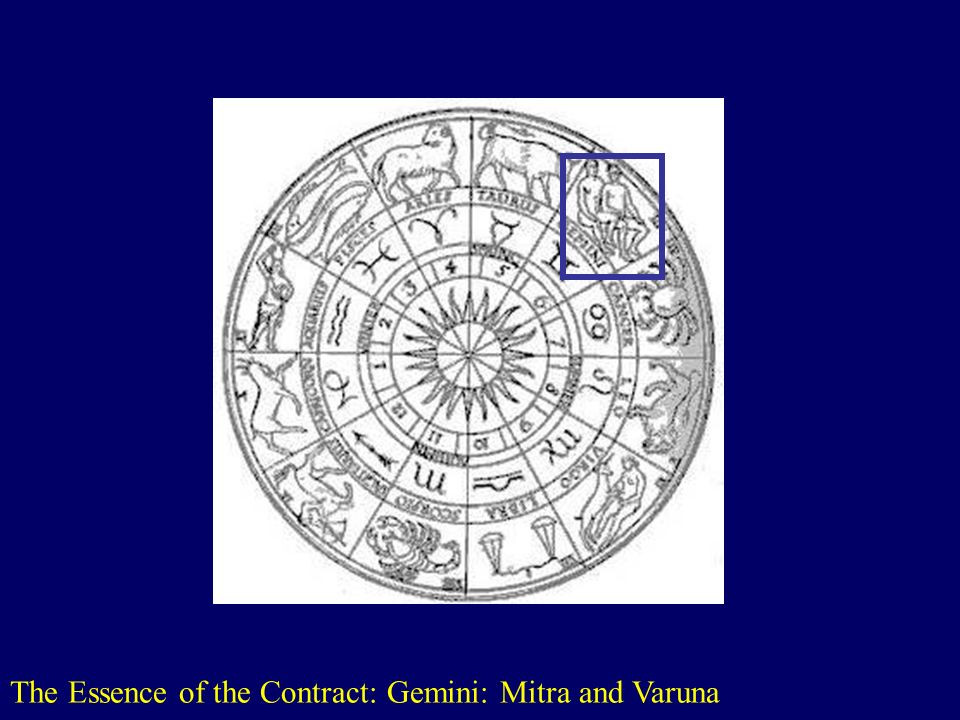 The Essence of the Contract: Gemini: Mitra and Varuna