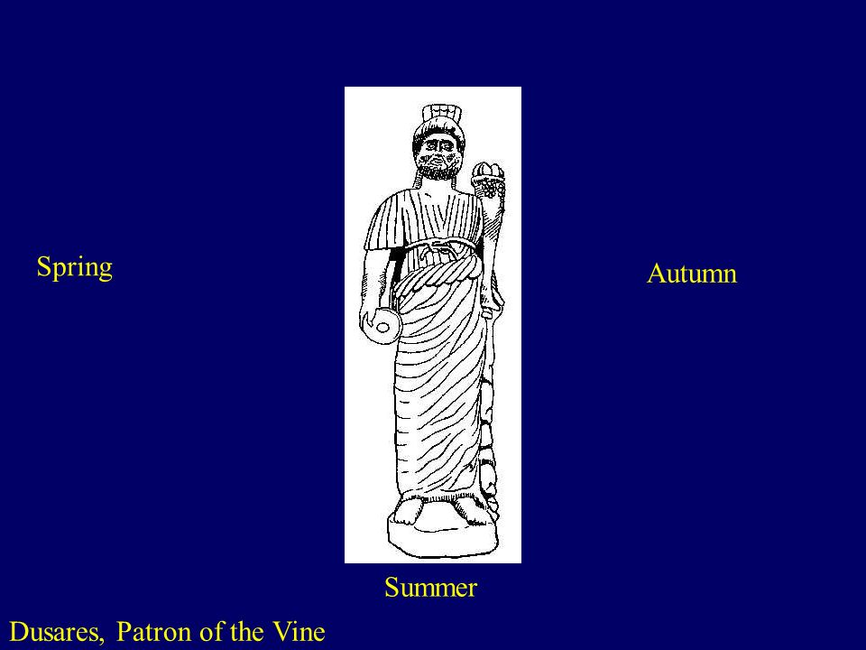 Dusares, Patron of the Vine