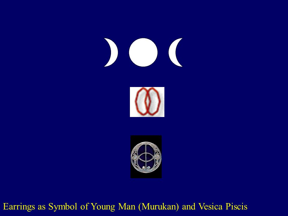 Earrings as Symbol of Young Man (Murukan) and Vesica Piscis