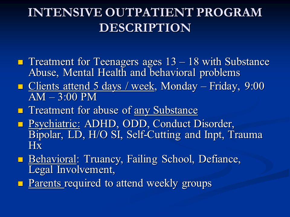 Matrix Intensive Outpatient Treatment With Adolescents Martin