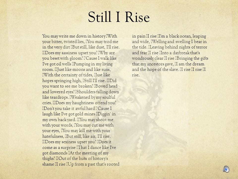still i rise maya angelou meaning