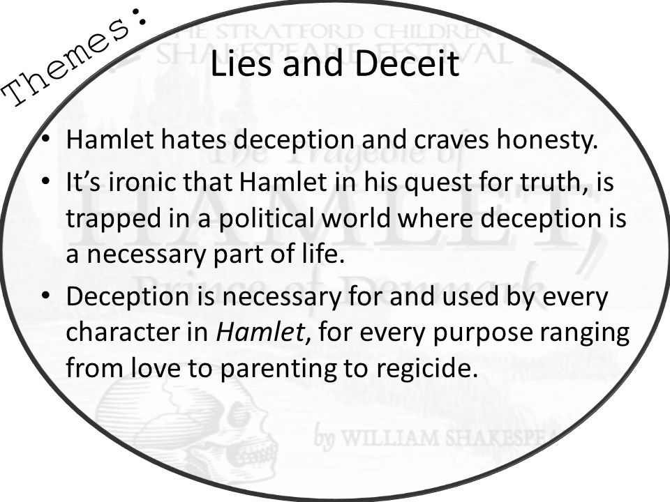 lies and deceit in hamlet