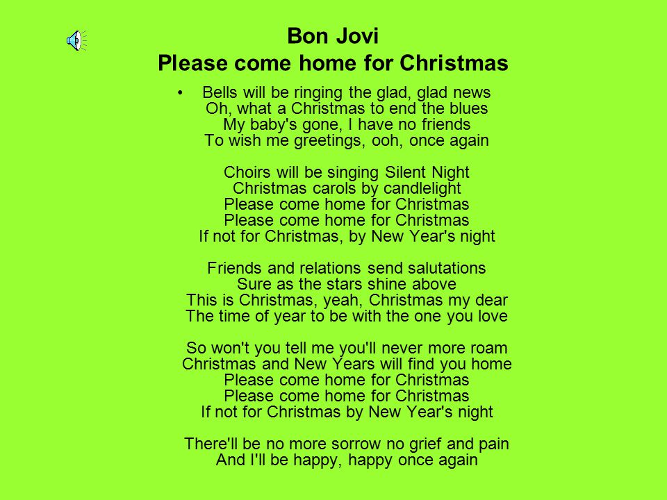 Bon Jovi Please come home for Christmas