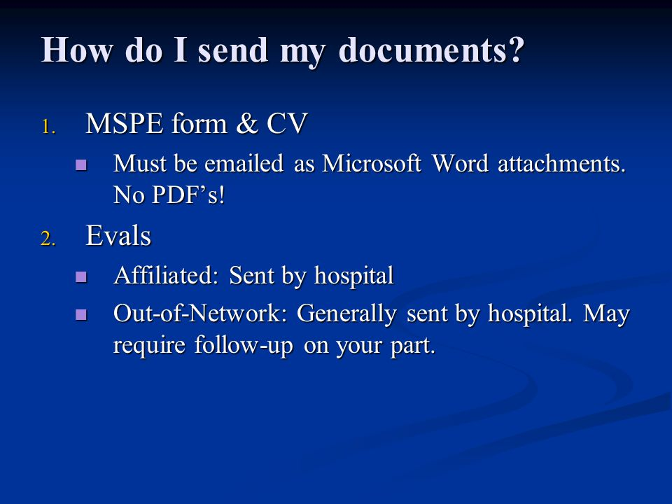 How do I send my documents