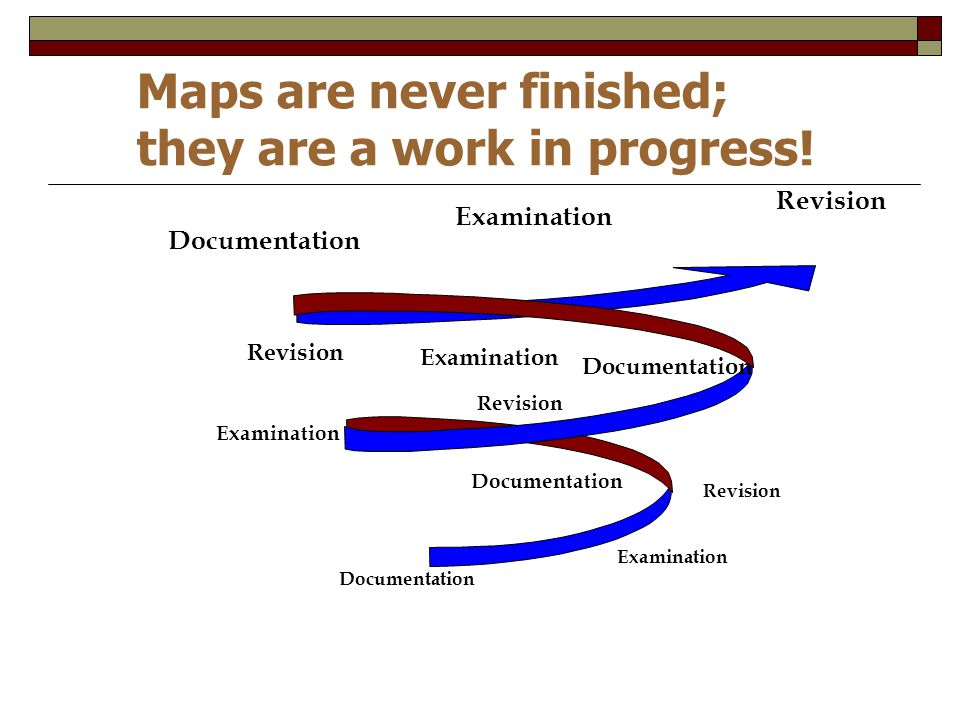 Maps are never finished; they are a work in progress!