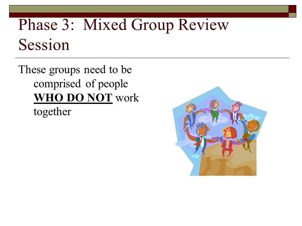 Phase 3: Mixed Group Review Session