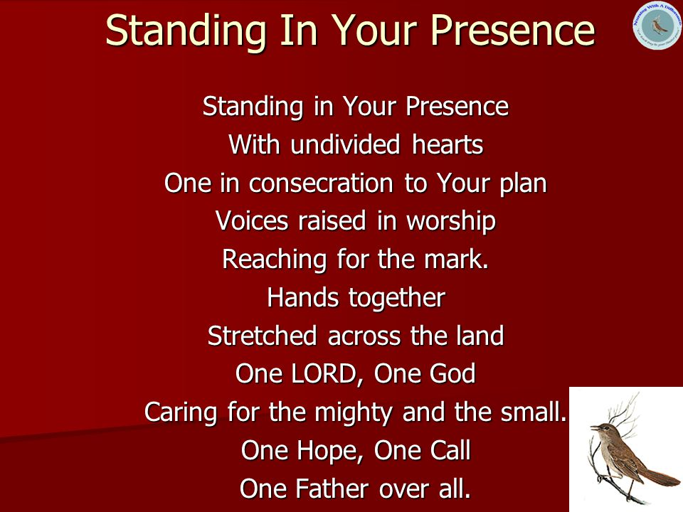 Standing In Your Presence