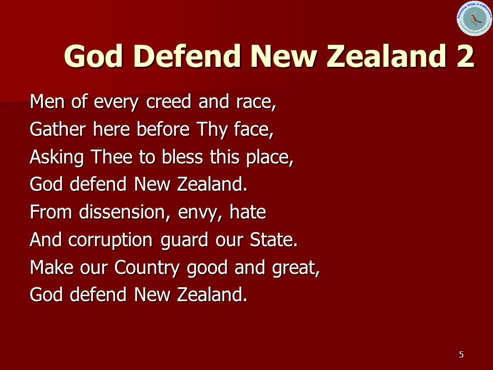 God Defend New Zealand 2 Men of every creed and race,
