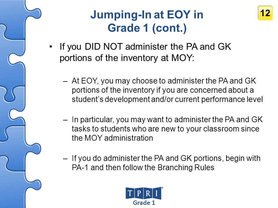 Jumping-In at EOY in Grade 1 (cont.)