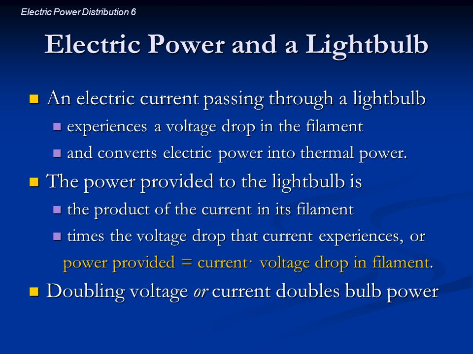 Electric Power and a Lightbulb