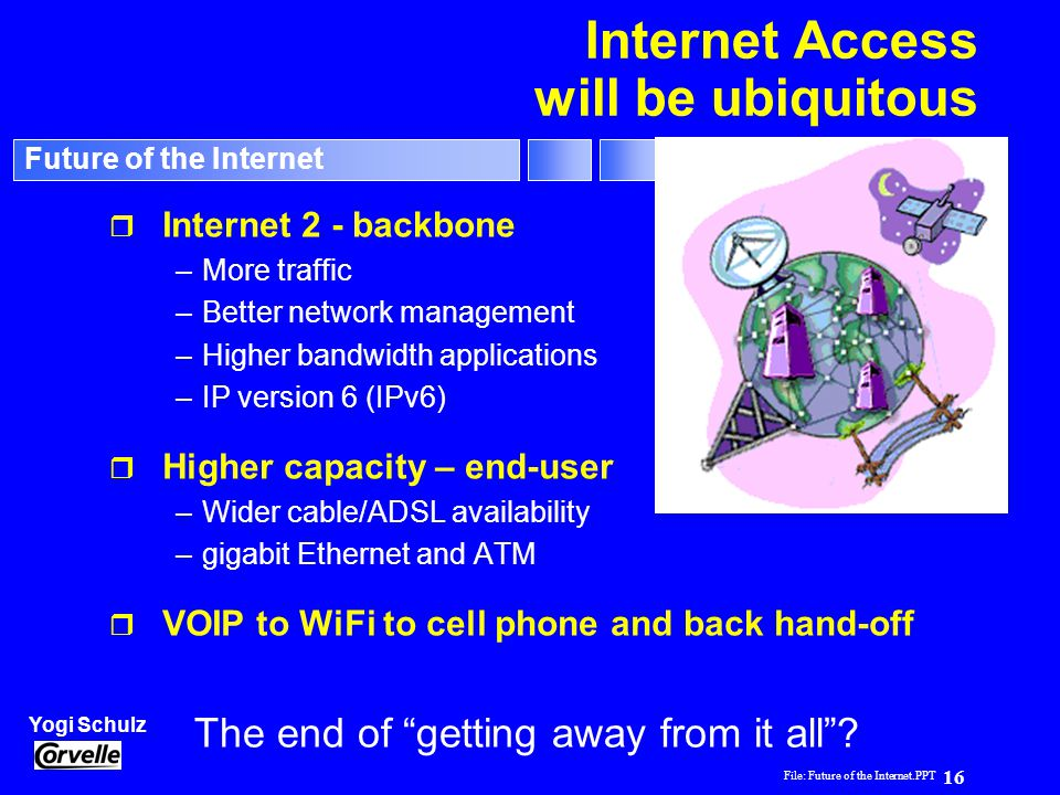 Internet Access will be ubiquitous