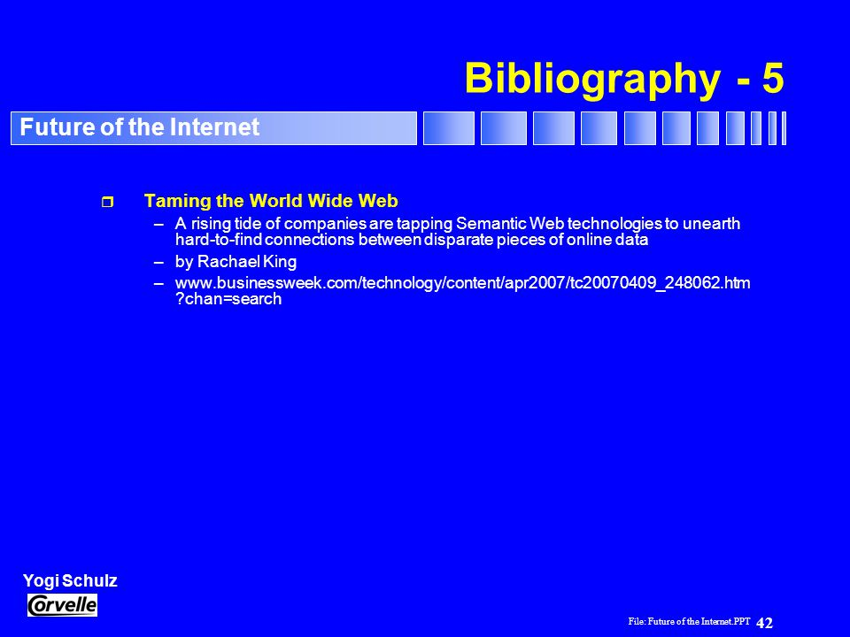 Bibliography - 5 Taming the World Wide Web