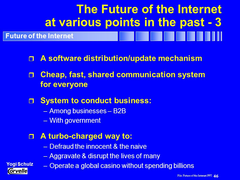 The Future of the Internet at various points in the past - 3