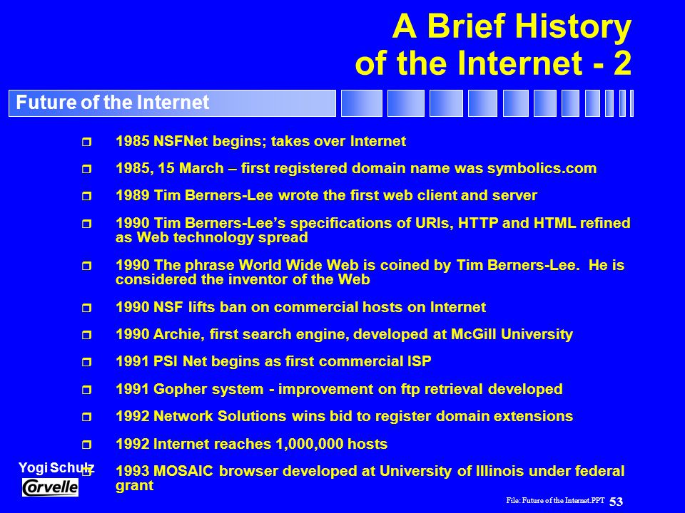 A Brief History of the Internet - 2