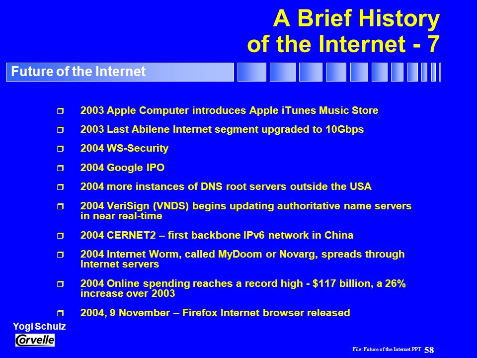 A Brief History of the Internet - 7