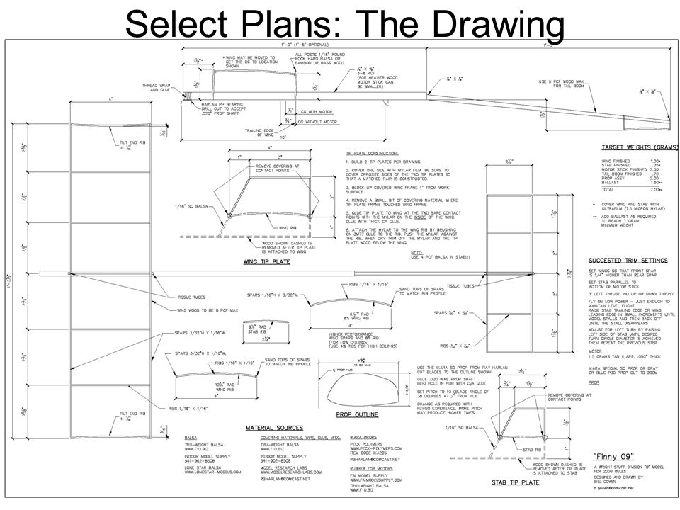 Select Plans: The Drawing