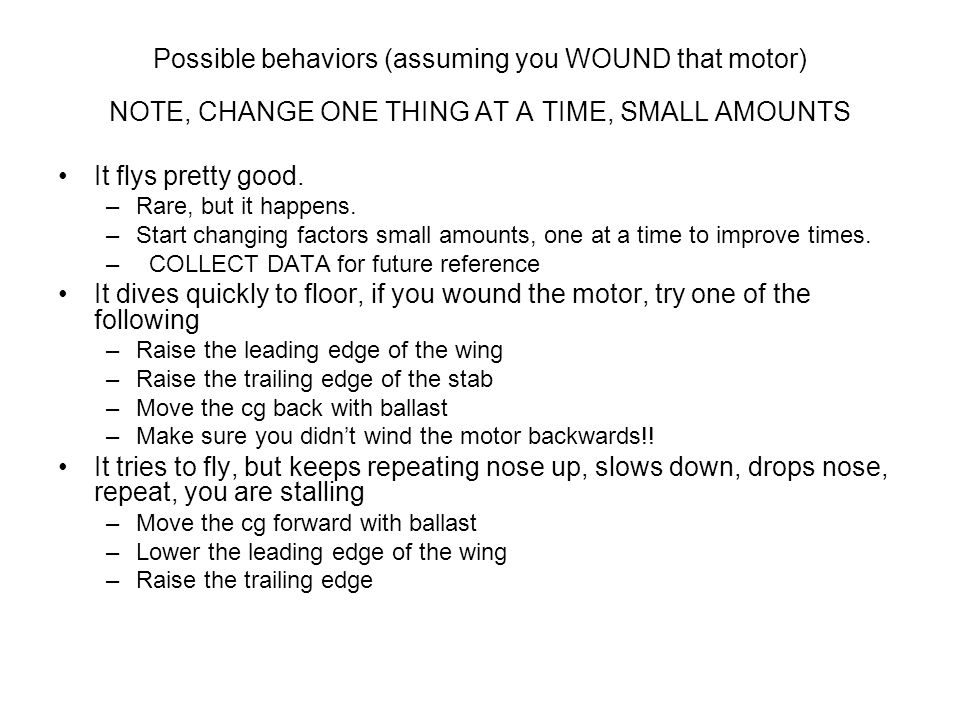 Possible behaviors (assuming you WOUND that motor)
