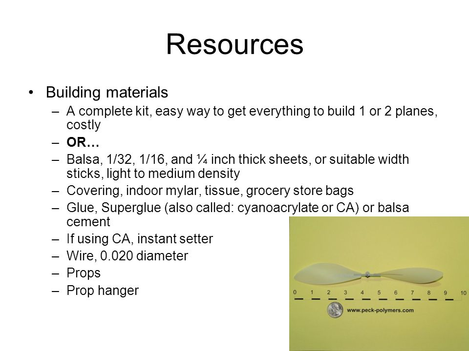 Resources Building materials