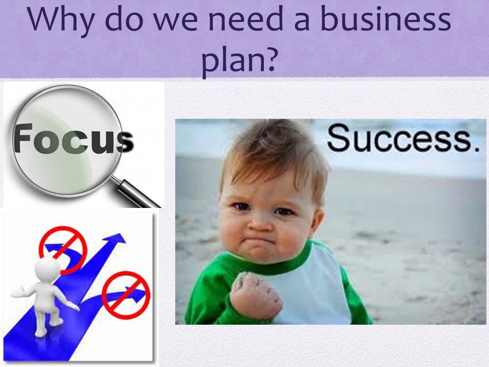 Why do we need a business plan