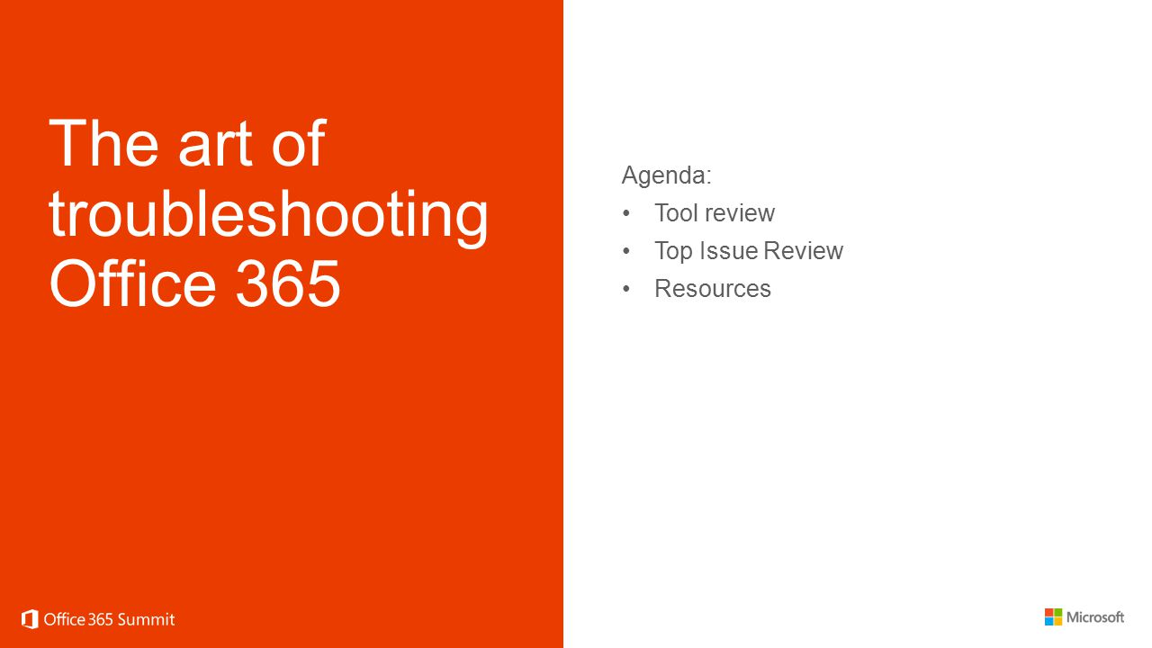 The art of troubleshooting Office 365